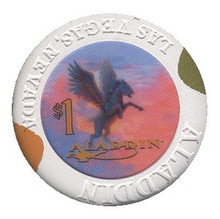 Aladdin Las Vegas $1 Casino Chip