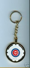 Chicago Cubs Chip Key Chain JCUBBLKKC