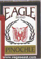 Eagle Pinochle Playing Cards Blue Deck
