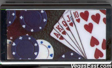 Heart Royal Flush Poker Cigarette Card Case