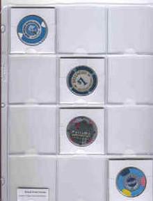 Casino Chip Token Vinyl Page Holder