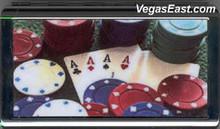 4 Aces Poker Casino Chip Cigarette Case