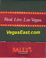 Bally's Las Vegas Casino Match Book