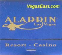 Aladdin Las Vegas Casino Match Book