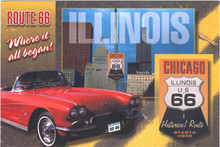 Chicago Route 66 Postcard