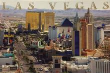 Las Vegas Strip Postcard J0784