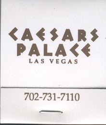 Caesars Palace Las Vegas Match Book J0954MB