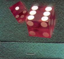 Binion's Horseshoe Match Book Red Dice