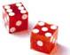 Red Craps Game Dice Set of 2