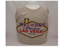 Welcome To Las Vegas Sign Cotton T-Shirt Sand