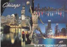 Chicago Postcard Multi Scene