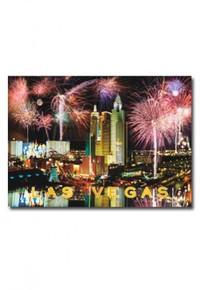 Las Vegas Strip Fireworks Postcard