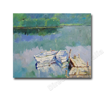 Crystal Lake   Cheap Canvas Wall Art & Paintings Online for Study Room