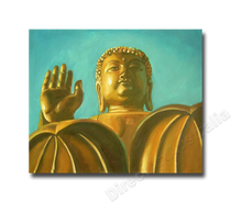 Golden Buddha Two   Art for Sale