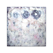 Brooke Howie │ White Abstract with Circles
