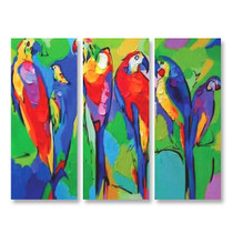 Colorful Birds - 3panels