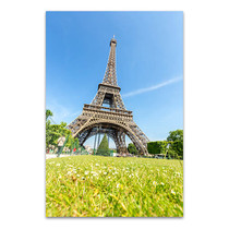 Blue Sky View of Eiffel Tower Art Print
