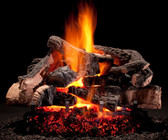 "Hargrove Rustic Timber Vented Gas Log Set 24"""