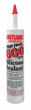 Forms a permanent, elastic, rubbery seal.  Excellent adhesion to most surfaces.  Use to:  Seal fireplace inserts, repair solar panels, flashings, apply ceramic tiles or anywhere a black or red permanent elastic seal is needed.  Adheres to glass, metal, most plastics, fiberglass, aluminum, wood, brick and slate.  Neutral cure (no odor).