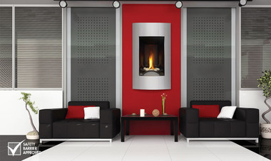 With its sleek, tall, slender design, the Napoleon Vittoria™ Gas Fireplace easily installs into smaller wall applications, perfect for entranceways and corner wall installations. With the choice of a traditional log set and traditional facing kits or a river rock setting and contemporary facing kits, the Vittoria™ now offers two entirely different looks. The Vittoria™ features Napoleon's exclusive NIGHT LIGHT™, electronic ignition with battery back-up and heat radiating ceramic glass. Either choice, traditional or modern, the Vittoria™ is the perfect fireplace for smaller living spaces.