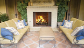 "36"" Outdoor Wood Burning Fireplace, Stacked Refractory Panels WRE4536"