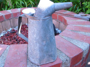 Old antique vintage oil can pitcher with spout