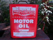 vintage antique motor oil 2 gallon can