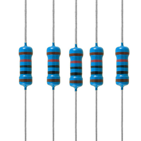 1/2W Metal Film Resistors (Pkg 5)
