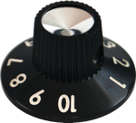 Fender Style Amp Knob - Thick Number