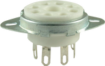 Ceramic - 8 Pin Octal Tube Socket (solder)