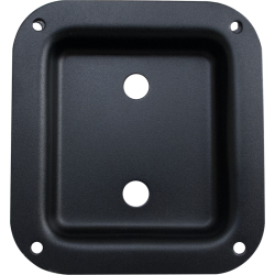 "Jack Plate - Dual 1/4"" Square Black Metal"