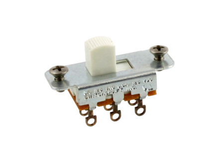 Switchcraft White On-On Slide Switch