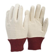 Cotton Drill Glove Red Cuff Ladies