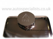 Header tank cap cover with engraved HOT logo - fits perfectly over original cap