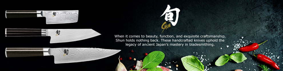 Shun knives are handcrafted by artisans in Japan with processes used to make ancient samurai swords. Each blade is forged from exceptional Japanese steel that offers unmatched cutting performance and edge retention.