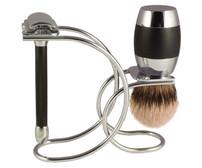 Merkur 20C Double Safety Razor Shaving Set - 3pc /Chrome/Black (90 208 1001)