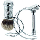 Merkur 38C Safety Razor Shaving Set - 3pc/Chrome (90 388 1001)