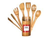 Kussi Bamboo Utensil Set 7pc (KUSBU7P-1)