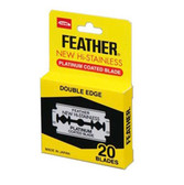 Feather Hi Stainless Double Edge Safety Razor Blades - 20pc (F1-30-200)