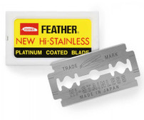Feather Hi Stainless Double Edge Safety Razor Blades - 10pc (F1-30-430)
