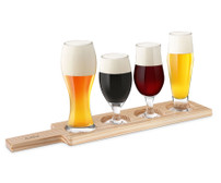 Final Touch Beer Tasting Set - 6pc (Light wood) (GBT104)