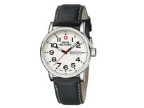 Swiss Military Watch Attitude Black Leather White Dial (01.0341.301)