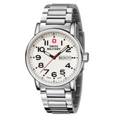 Swiss Military Watch Attitude Bracelet White Dial (01.0341.302)