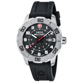 Swiss Military Watch Roadster Black Silicone Black Dial (0851.301)