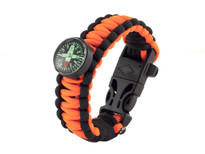 Black Tusk Survival Bracelet Large - Orange (PARL-OR)
