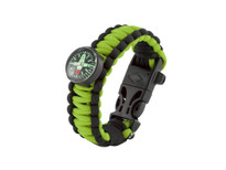 Black Tusk Survival Bracelet Medium - Green (PARM-GR)