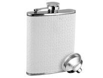 Savoir Flask - White Leather - 6oz (FWHT6Z)