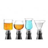Final Touch Assorted Jigger Stopper 4pc Set (FTA7037)