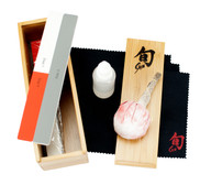 Shun Knife Care Kit (DM0625) Kitchen Polishing Cloth, Sticks, Oil, Talc Ball