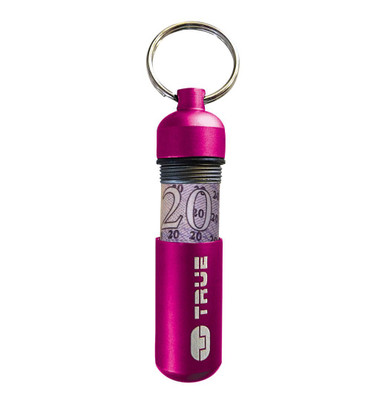 True Utility  CashStash Money Storage Key Ring Accessory, Pink (TU41PNK)